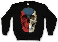 Czechia Skull Flag sudadera suéter Sweater-república checa Banner Biker Czech