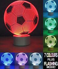 3D Optical illusion Lamps Football, Leopard, Earth,Teddy Bear, Skull, Spaceship,