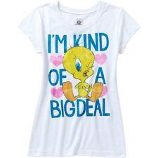 Looney Tunes Tweety Bird  girls White Top t-shirt Size XS 4-5  S 6-6X