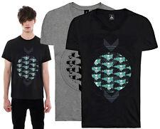 Mens Designer Indie Alternative Sci Fi Skull Art Print T Shirt Tee Top M Medium