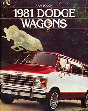 1981 Dodge Ram Wagon Van Original Sales Brochure Catalog