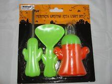 Halloween Orange green Pumpkin Carvin Kit Light Set New