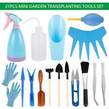 21PC Bonsai Tool Gardening Kit Potted Fleshy Garden Succulent Plant Trimming Set