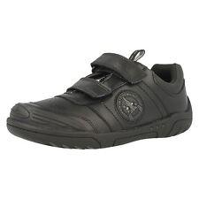 SALE Boys Clarks Wing Smart Inf & Jnr Black Leather School Shoes