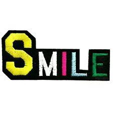 SMILE TOPPA SMILLING AUFBUEGLER COLLEGE CARTOON PATCHES SHABBY LACHEN