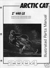 2004 ARCTIC CAT SNOWMOBILE Z  440 LX PARTS MANUAL