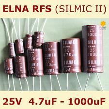 ELNA RFS Audio SILMIC II Aluminium Electrolytic Capacitor [25V] 4.7uF - 1000uF