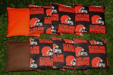 Cornhole Bean Bags Set of 8 ACA Regulation Bags CLEVELAND BROWNS