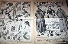 """CATALOGUE """" AUX GALERIES LAFAYETTE """" 1925"""