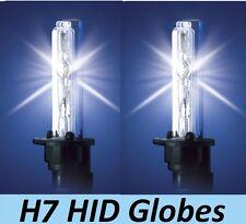 1 pr H7 HID Globes Bulbs 35W 55W 70W 12v 24v 4300K or 6000K or 8000K or 10000K