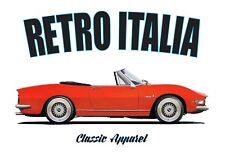 Fiat Dino Spider T-shirt. Retro Italia. coche clásico. diseño Pininfarina.