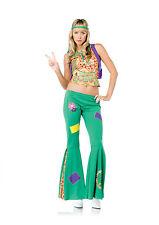 Sexy Leg Avenue Adult Women's Halloween Peace Sign Hippie Flower Girl Costume