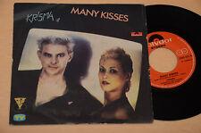 "KRISMA 7"" 45 NO LP MANY KISSES-RIEN NE VA PLUS 1°ST ORIG ITALY PUNK 1980 !!!"