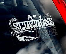 Skorpione - Auto Fenster Aufkleber - Musik Heavy-Metal Rock Schild Kunst Gift