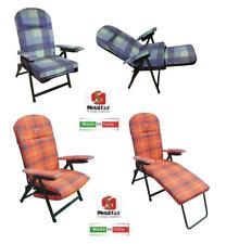 Sedia a Sdraio Rodi con Cuscino e Prolunga Poggiapiedi Variante di Colori Ass.