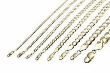"""GOLD AUTHENTIC 10K SOLID GOLD MEN'S WOMEN CUBAN LINK CHAIN NECKLACE SZ 16""""-30"""""""