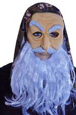 Mens Adult Biker Hippie Old Man Bandana Wig Beard Halloween Costume Acces. NEW