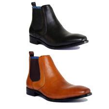 Justin Reece Bert Mens Leather Matt Ankle Boots Size UK 6 -12
