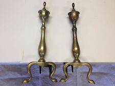 Antique Fireplace Brass Andirons