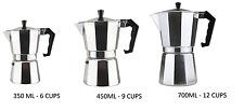 New  Aluminium Coffee Maker Continental Style Espresso Cafetiere Percolator