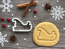 Sleigh Xmas Cookie Cutter 05 | Christmas | Fondant Cake Decorating | UK Seller