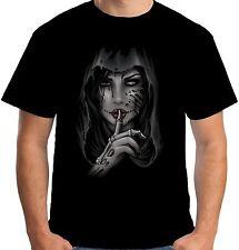 Camiseta para hombre velocitee bastante Shh Dama día de los muertos Dia de los muertos A20456