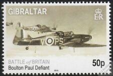 WWII RAF BOULTON PAUL DEFIANT 2010 Battle of Britain Aircraft Stamp (Gibraltar)