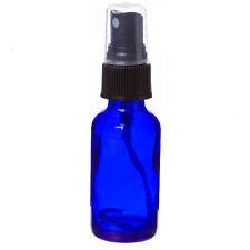 2oz Cobalt Blue Glass Bottle with Black Mist Sprayer - Choose Your Quanity