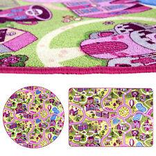 Spielteppich Straße Kinderteppich Mädchen Straßenteppich Rosa Teppich Pink Kind