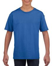 Plain Royal Blue Childrens Kids Boys Girls Child Cotton Tee T-Shirt Tshirt 3-14