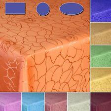 Damast Rosen-Design Tischdecke Tischaufleger Festdecke Größe und Farbe wählbar
