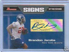 BRANDON JACOBS 2005 BOWMAN AUTO RC CARD MINT