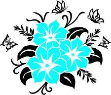 Blume Blumen Lilien Tribal Aufkleber Wandtattoo Sticker Auto Spiegel