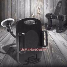 """7""""Long Arm Windshield 360 Rotating Tablet Mount Holder Cradle+Bag Hanger Hook"""
