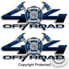 4x4 Firefighter Truck Decal Fireman Blue Cross Sticker for Ford F-250