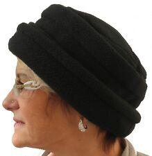 Cappello da donna pile nero marrone scuro cappello inverno caldo