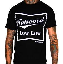 Cartel Ink Tattooed Lowlife T-Shirt Rockabilly Punk Tattoo Kustom Kulture Retro