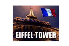 France Eiffel Tower landmark metal wall plaque sign