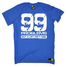 99 problemi di un ascensore non è tra swps Da Uomo T-shirt DI NATALE Palestra Allenamento Fitness
