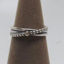 New Pandora w/Box Rising Star Diamond Sterling Silver 14 kt Gold Ring 190243D