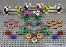 LEGO - Flowers Plants Fence - PICK YOUR COMBO - Garden House Farm Stem City Lot