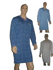 3  Herren Nachthemden mit langem Arm in Baumwolle Gr. M und L
