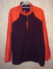 New Mens XL NIKE 1/2 Zip Pullover Hybrid Sideline Jacket Maroon Orange Va Tech