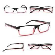 Red & Black Stylish Retro Fashion Unisex Reading Glasses Spring Hinges TN93