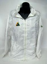 Lawn Bowls Wet Weather Waterproof Lined Rain Jacket BA Logo  WHITE  With Hood