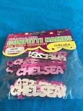 2 packs fun New Metallic Die Cut Personalized Confetti Names (starting w/ C-Z)