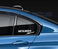 Mitsubishi Sport Decal Sticker logo ralliart racing evolution lancer New Pair