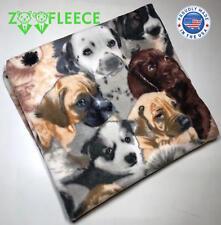 """ZooFleece 60X60"""" Blanket Throw Quilt Cute Dogs Animal Puppies Linen Best Friend"""