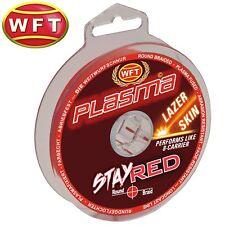 (0,13€/1m) WFT Plasma Stay Red Lazer Skin 150m - Geflochtene Angelschnur