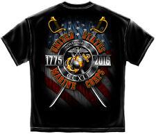 USMC Marine Corps Birthday 2016 T-Shirt Black